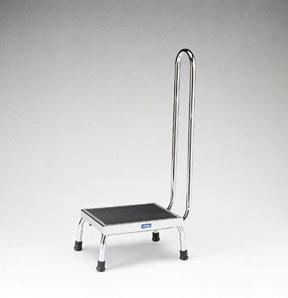 Pedigo P-10-A Chrome Footstool with Handrail | Alpine